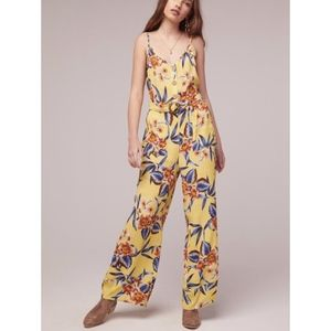 BAND OF GYPSIES DAFFODIL YELLOW FLORAL JUMPSUIT